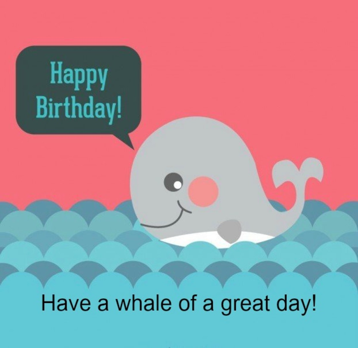 Happy Birthday Message with Whale