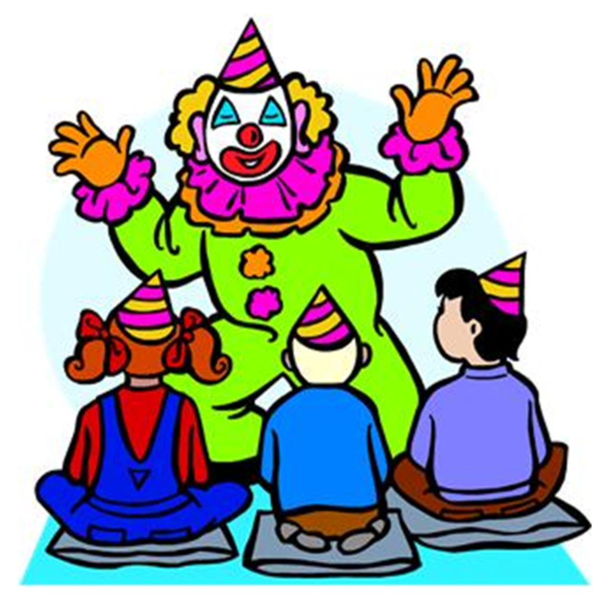 Clown Entertaining at Kids' Birthday Party