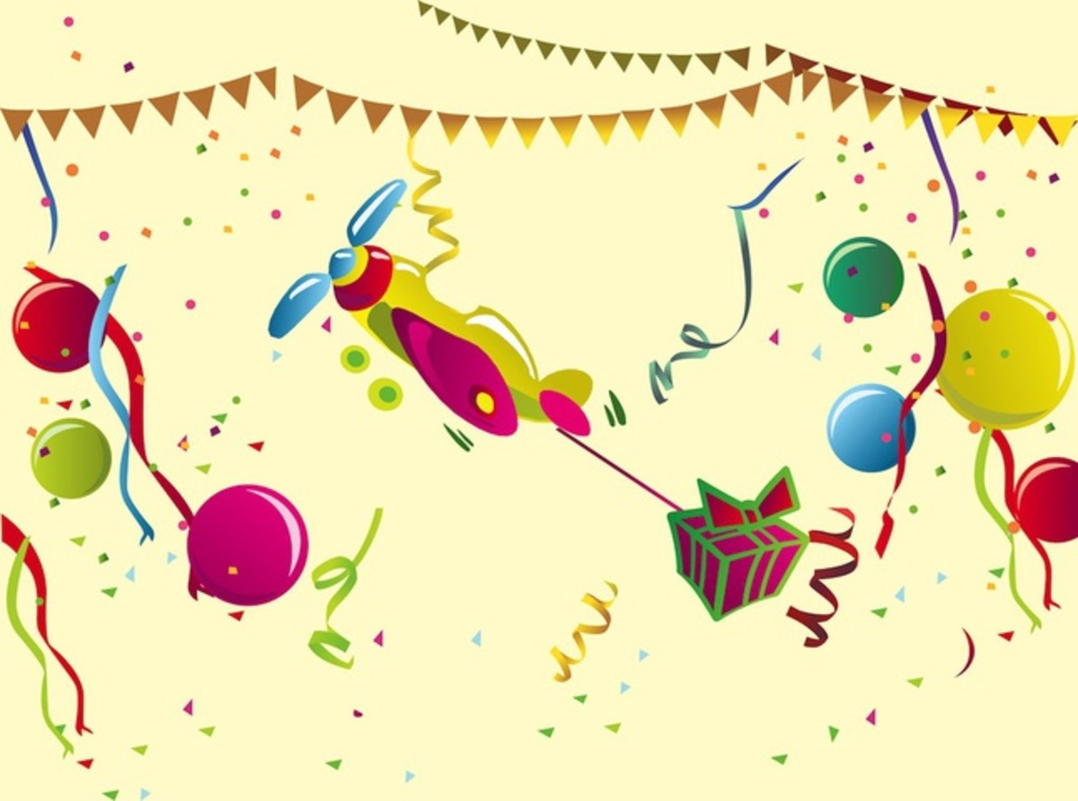 Party Banners, Balloons, Streamers and Gift