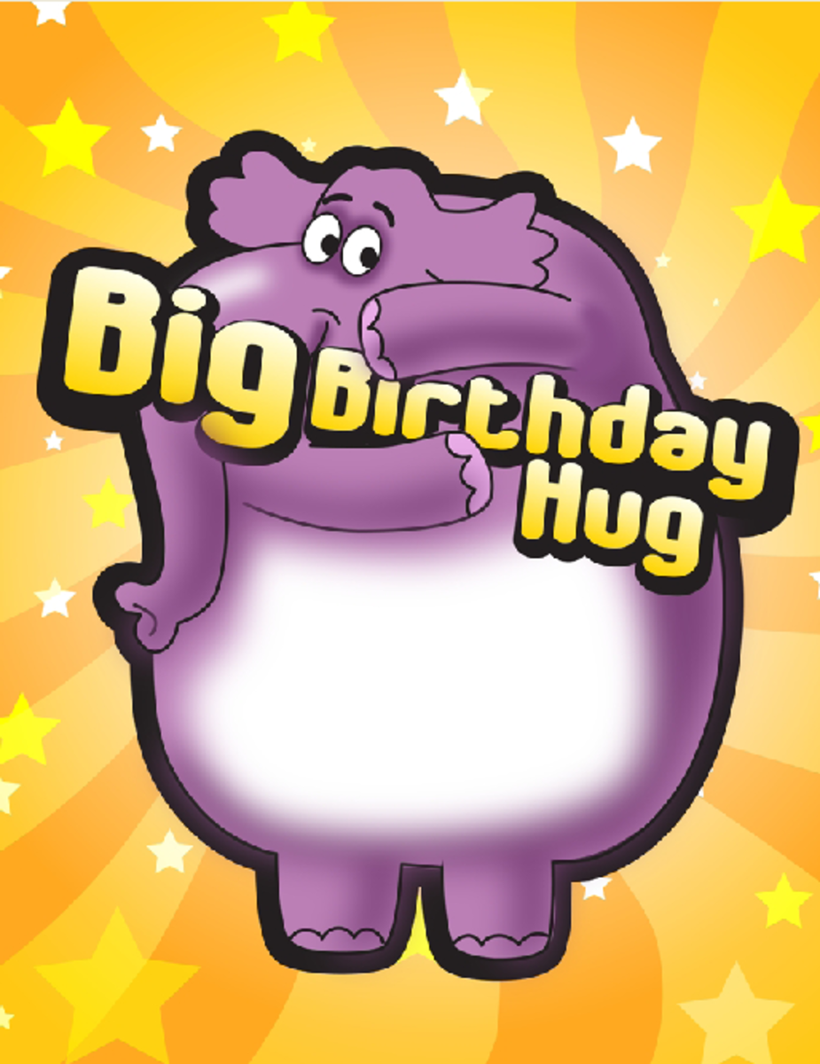 Elephant with Big Birthday Hug