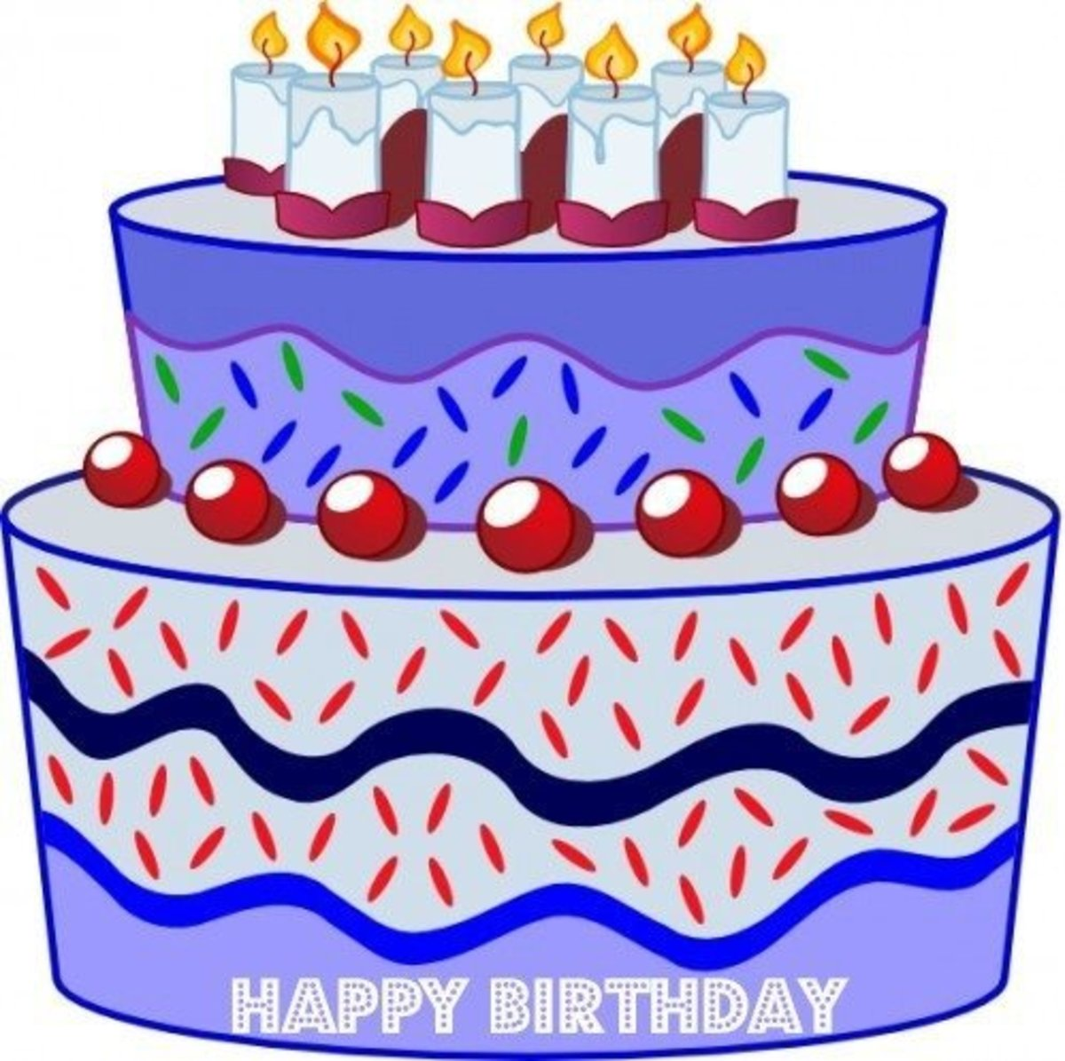 Big Purple Birthday Cake