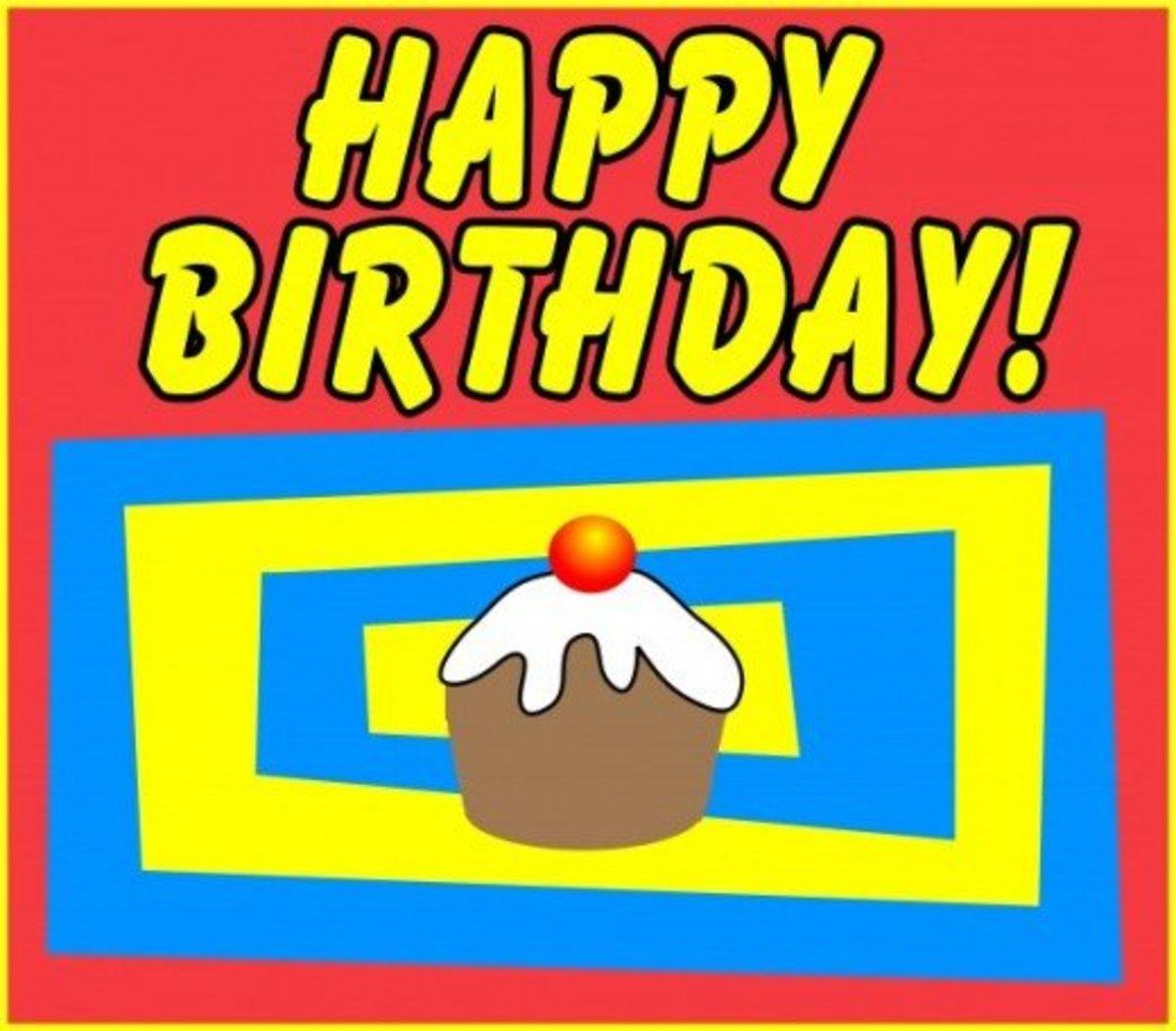 Happy Birthday! with Cupcake