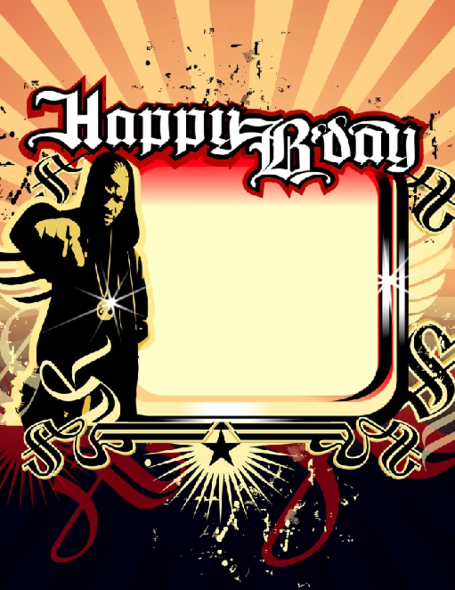 Happy B'Day Party Invitation