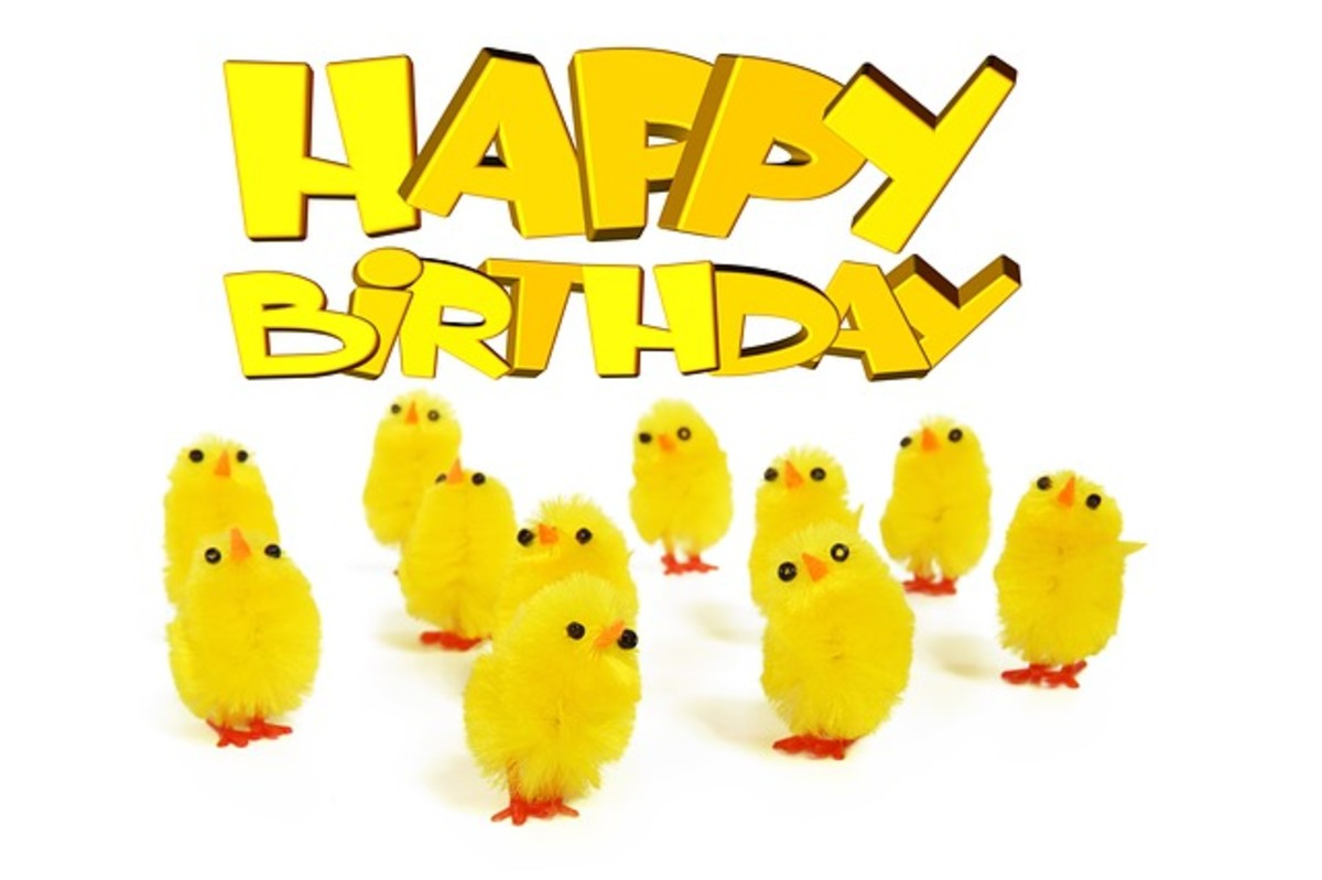 Happy Birthday with Baby Chicks