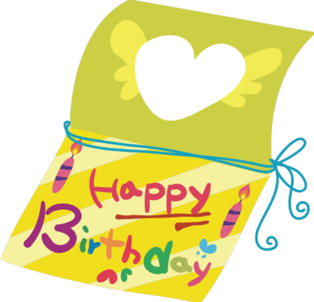 Happy Birthday Card with Big Heart
