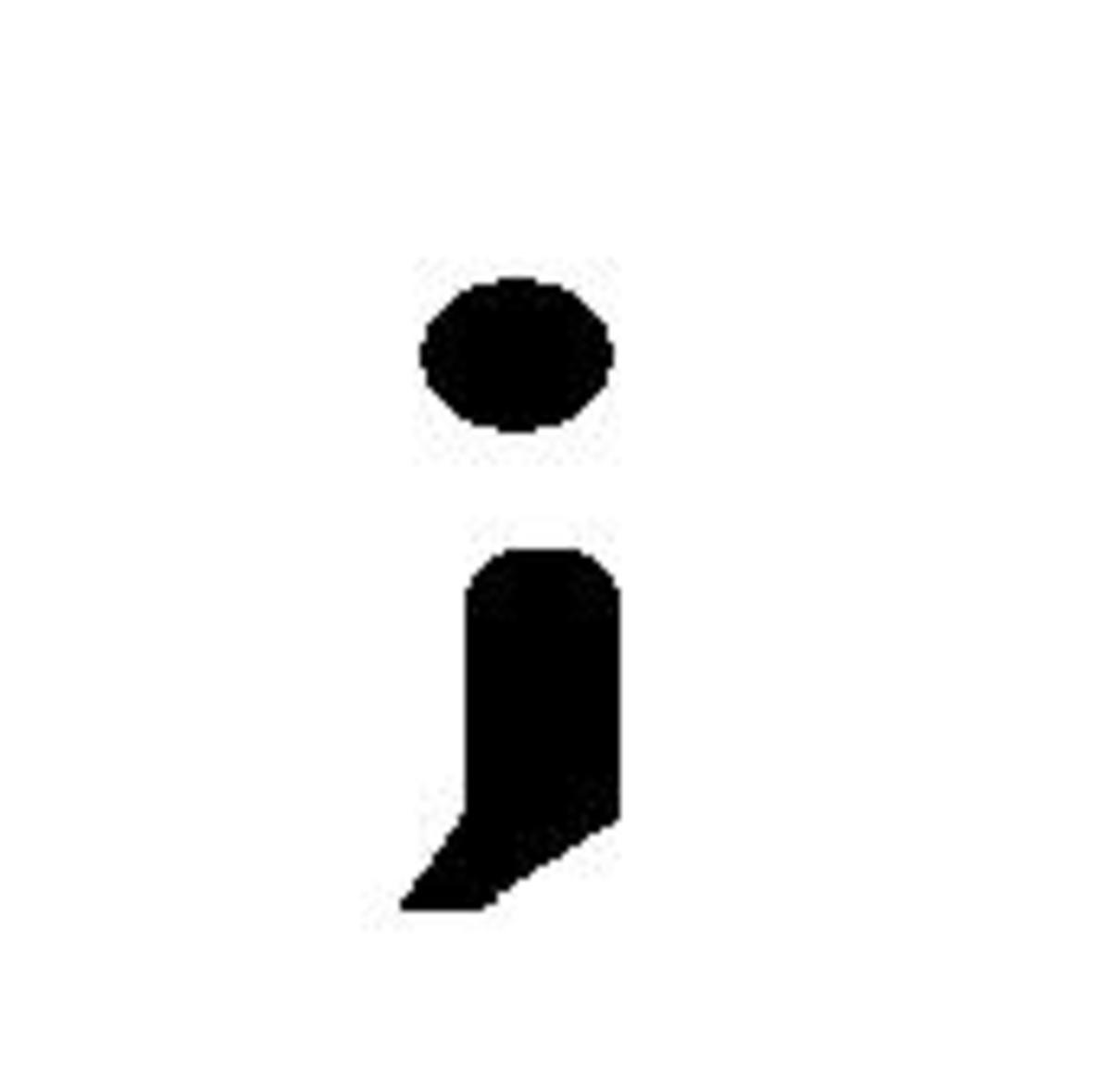 a semicolon: half period, half comma