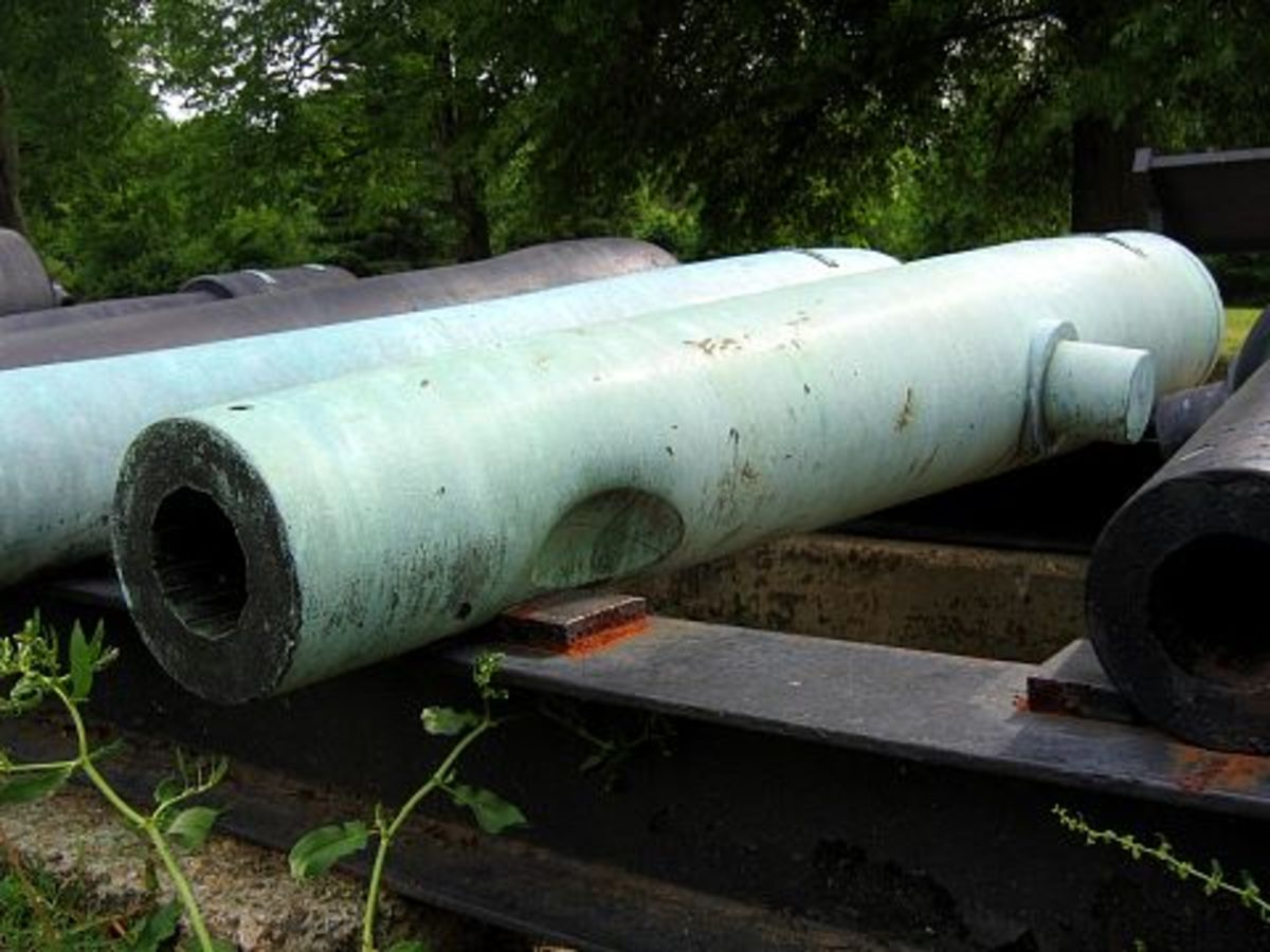 Tube of a cannon that was dented by enemy counterbattery fire