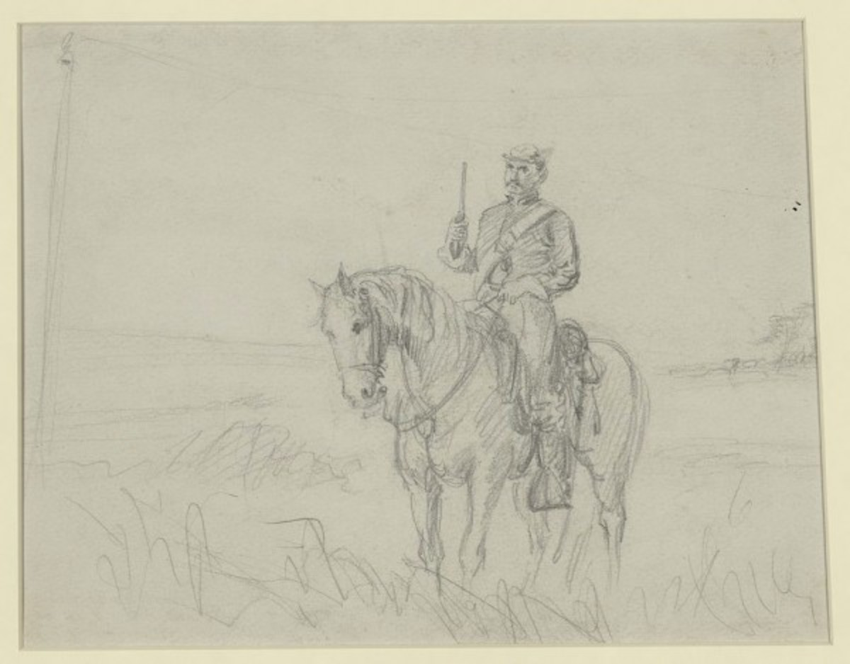 Sketch - a cavalry trooper with pistol