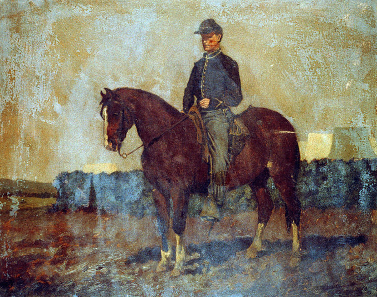Painting - a cavalry orderly