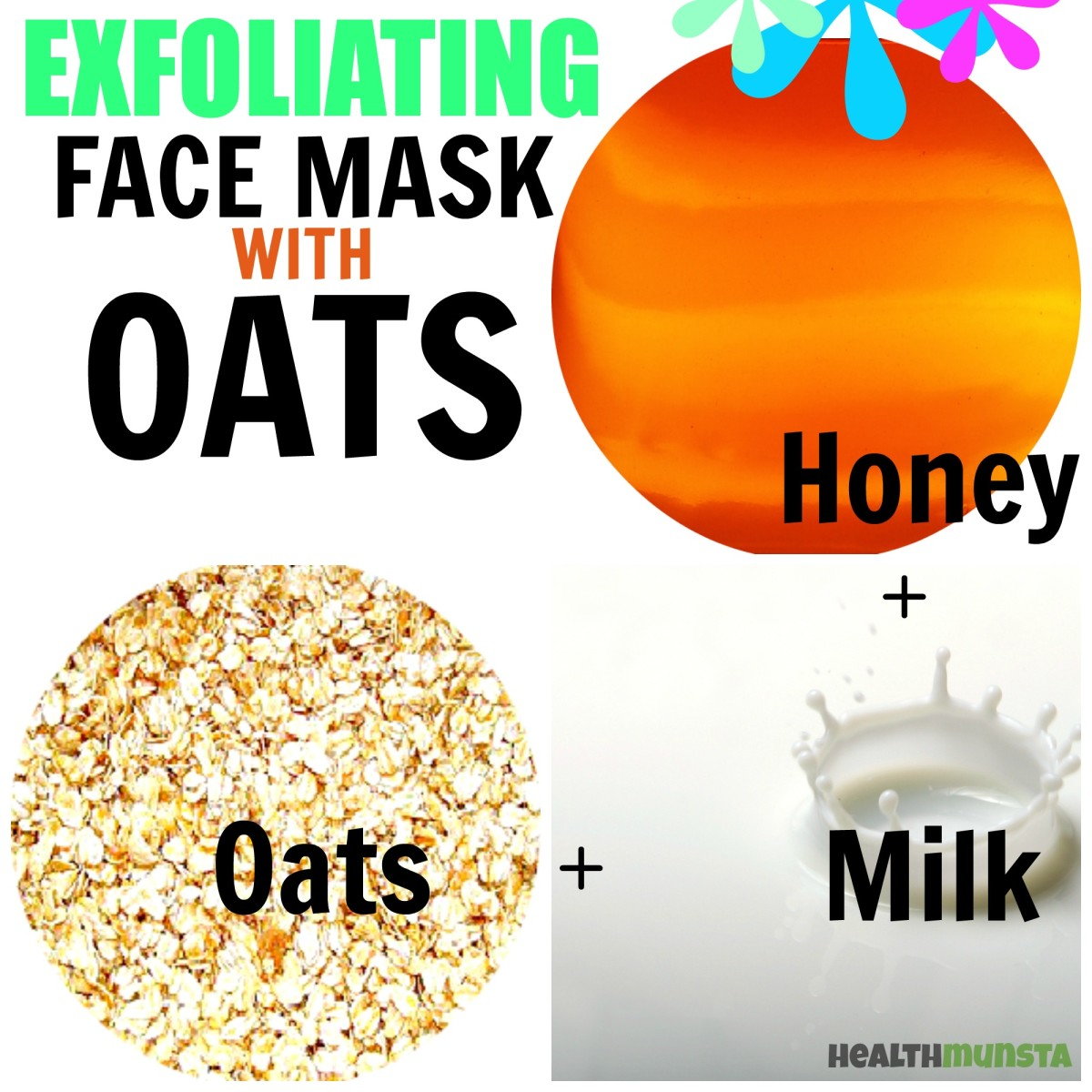 It's Spa Time! Exfoliate dead skin cells with a simple oats face mask containing honey and milk.