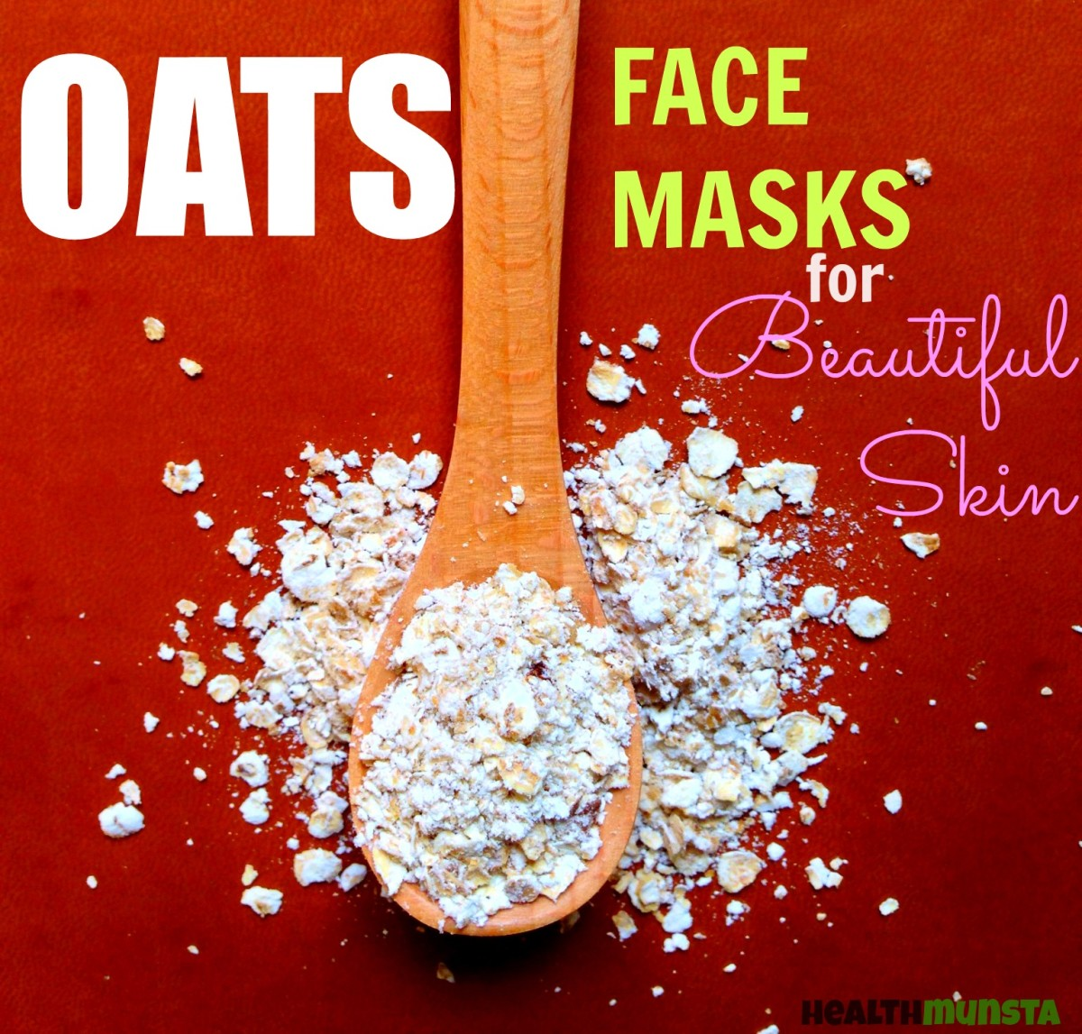 Simplest and best oats face masks using whole or powdered uncooked oats!