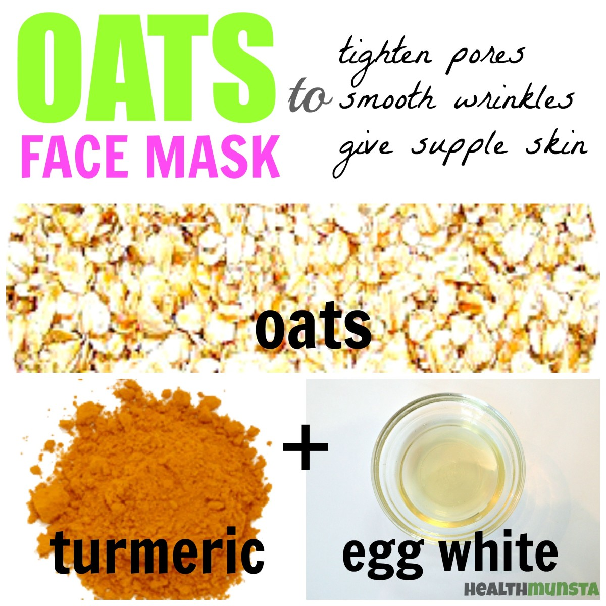 Tighten large pores using this easy anti-aging oats face mask that fights wrinkles and creates youthful supple skin.