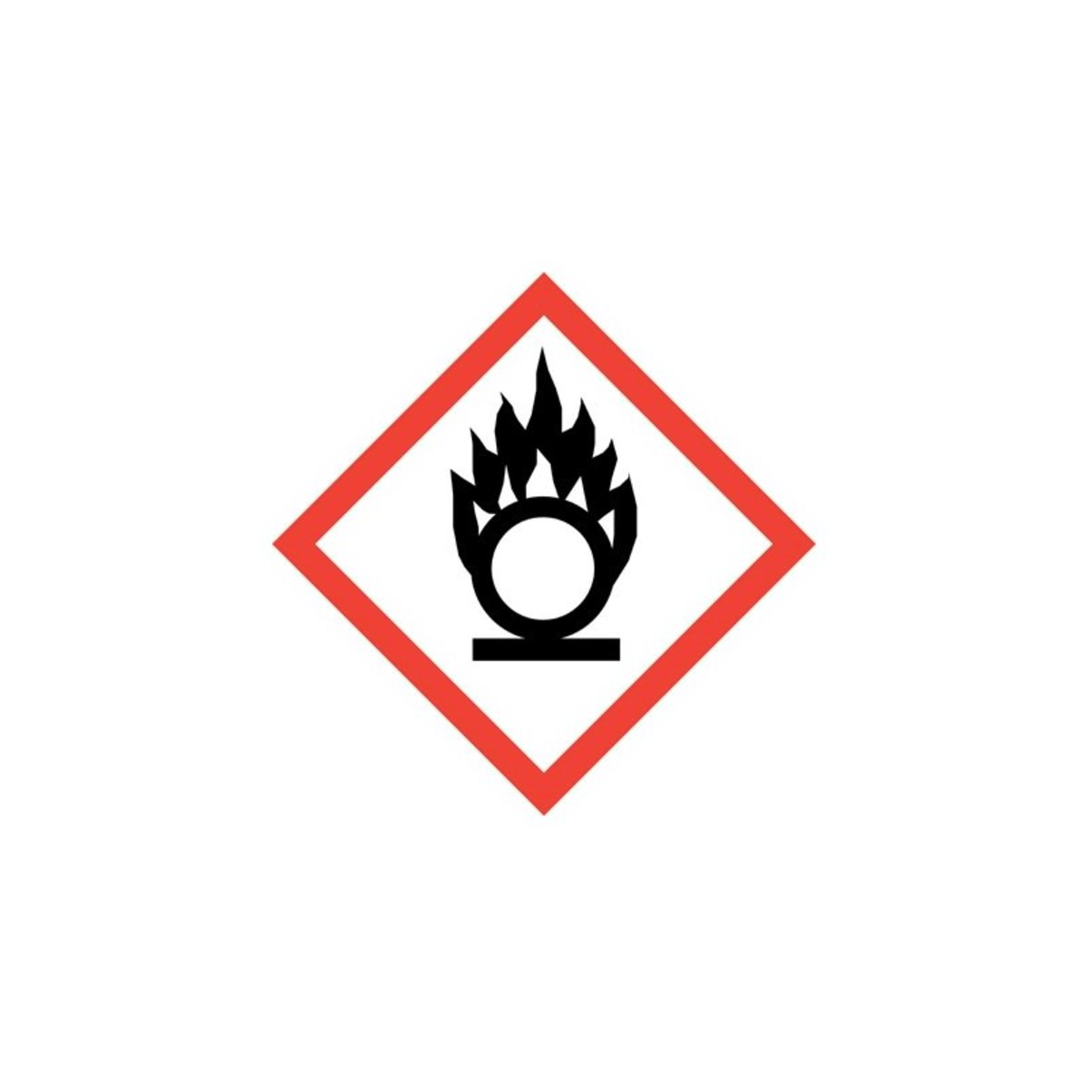 Flame over circle ghs pictogram