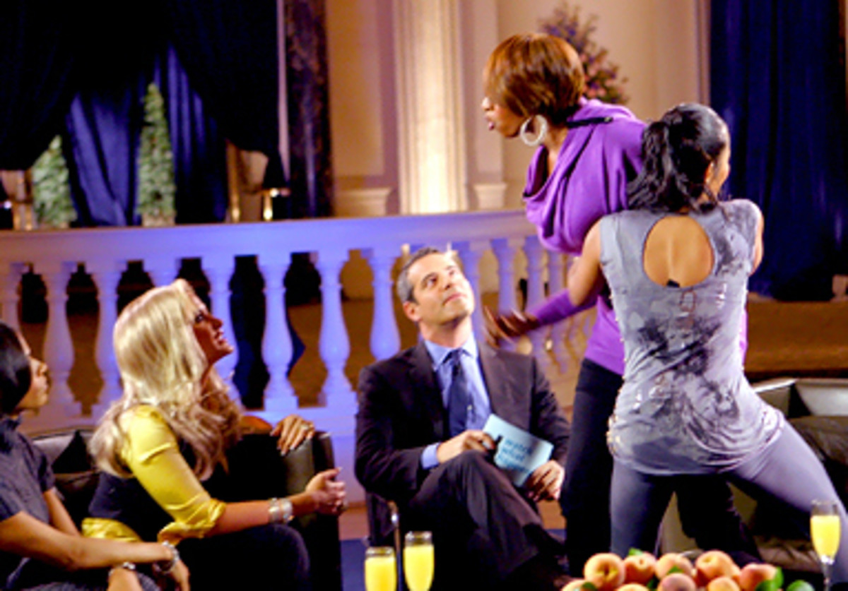 Nene being overtly confrontational with Kim at another reunion show.