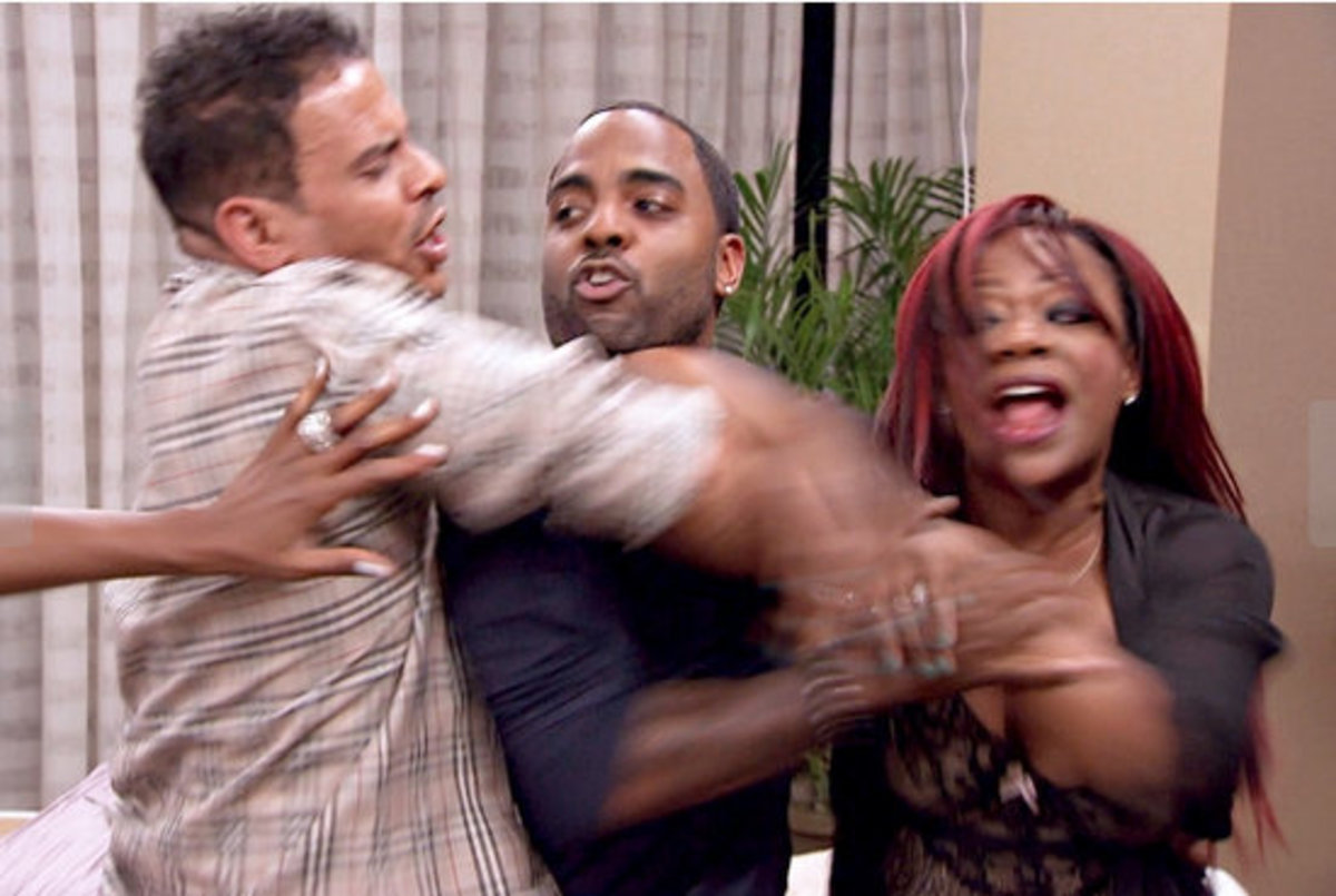 Kandi defending her boyfriends honor.