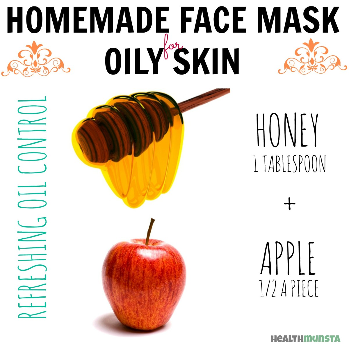 This is such a sweet and simple mask (literally!). Mix honey and apple together to form an awesome balancing face mask for oily skin.