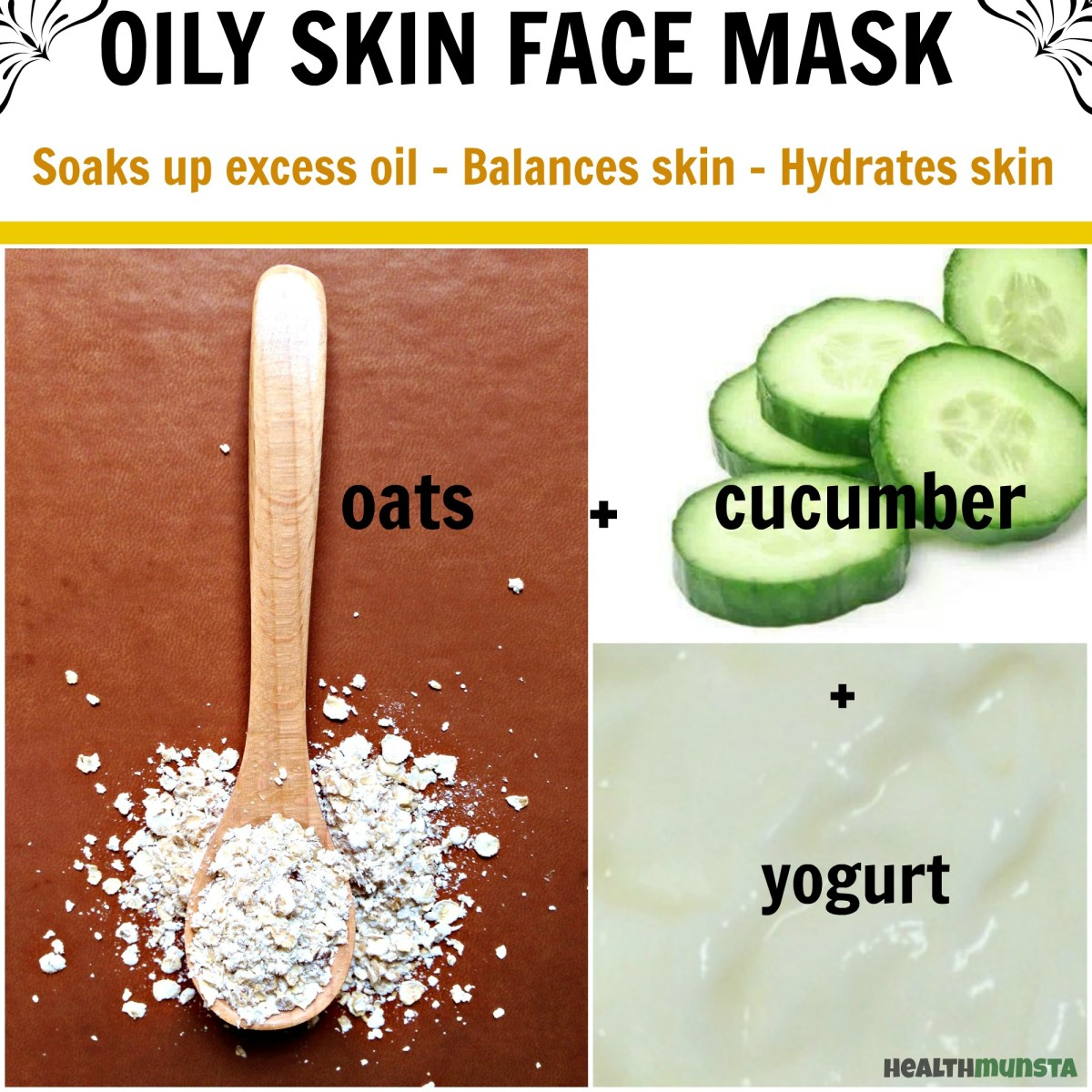 This hydrating mask is great for oily skin as it pulls out excess oils, refreshens the skin layer and rebalances the skin through the yogurt.