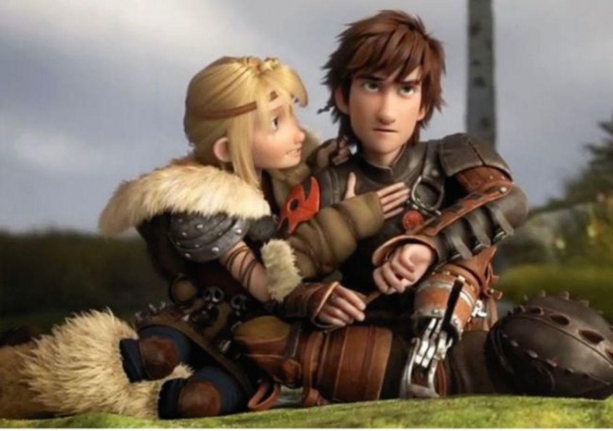 Astrid and Hiccup from Dreamworks Animation How to Train a Dragon
