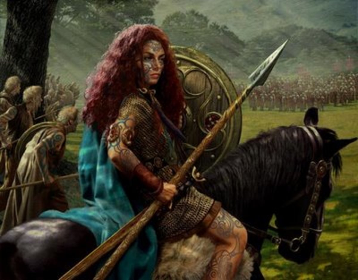 Another rendition of Boudicca in battle.