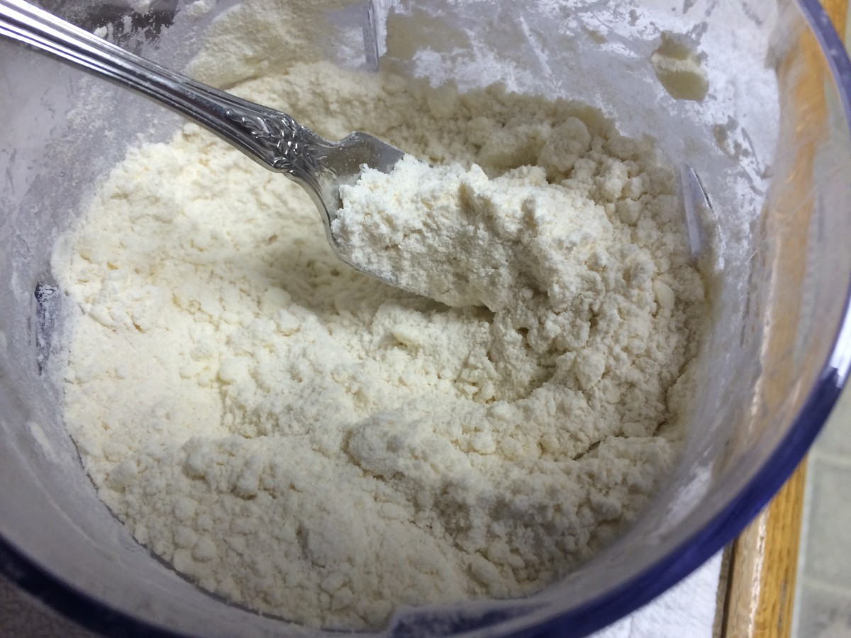 Butter, flour and sugar, after the Ninja blended.
