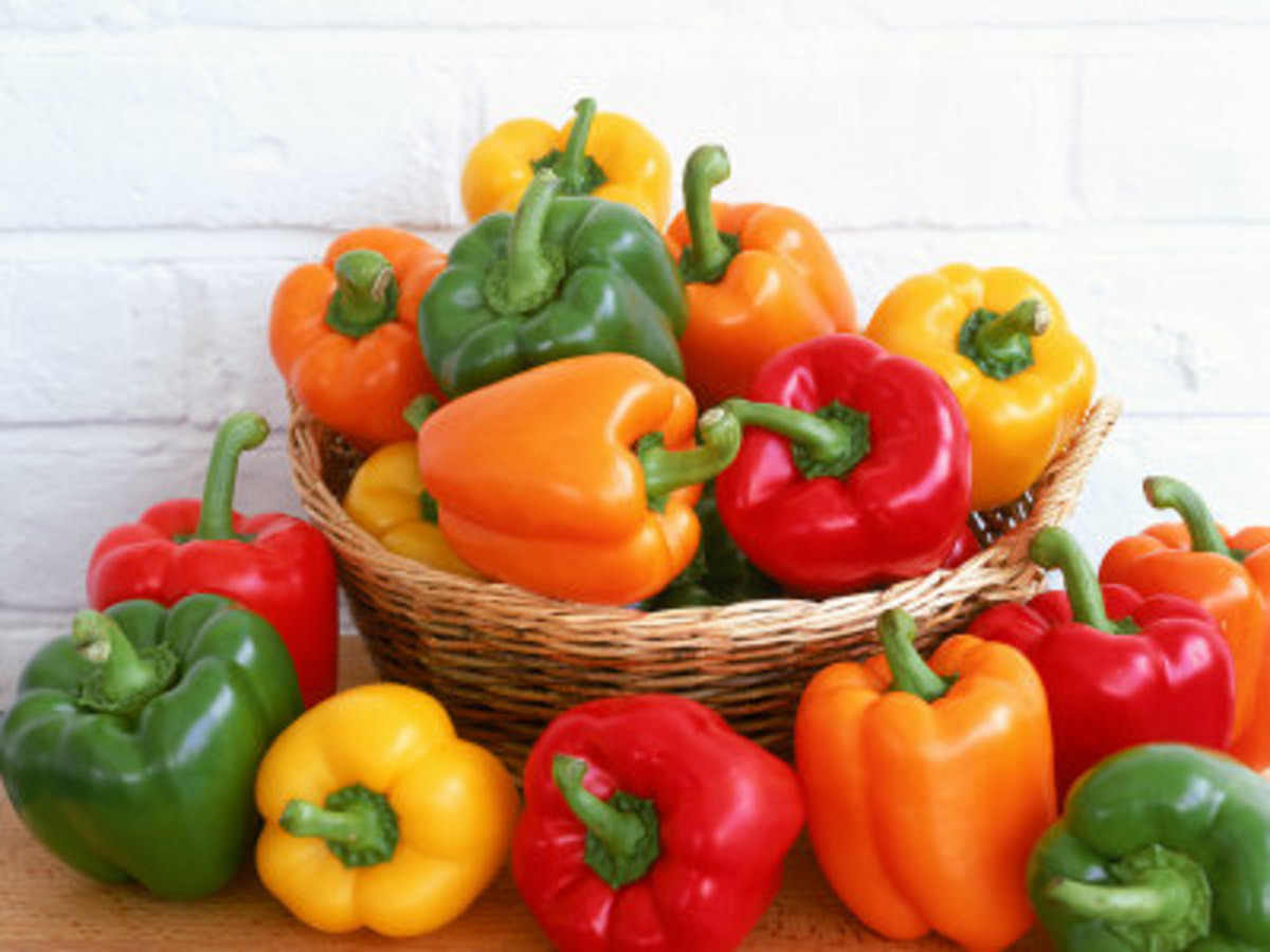Nearly 50 pesticides have been detected on sweet bell peppers