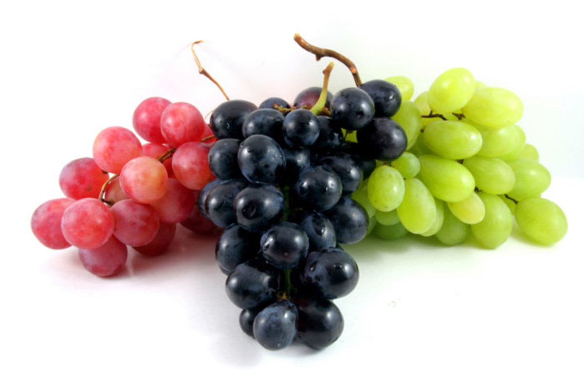 Grapes are full of anti-oxidants but also full of pesticides. Buy organic when possible