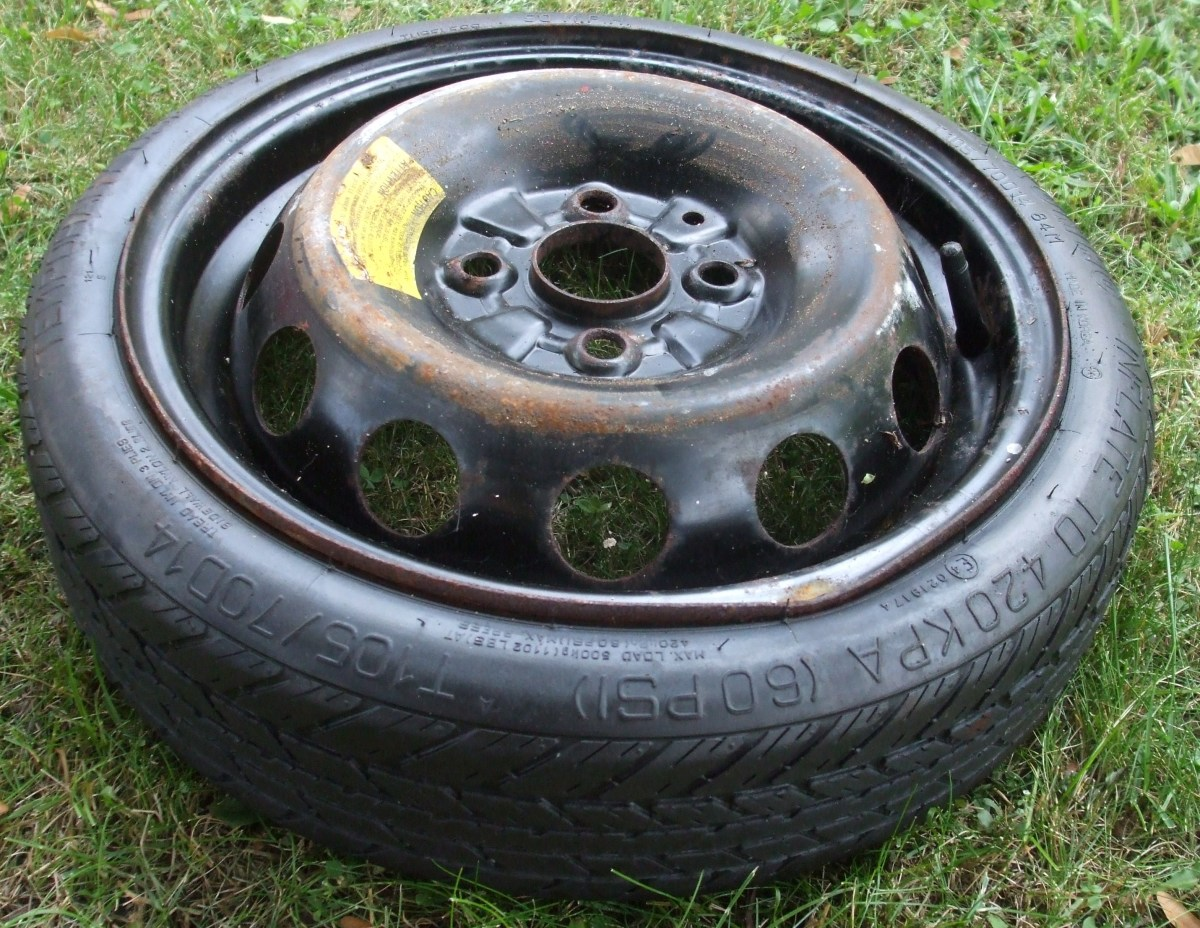 Can you spot the defect?  It is a bent wheel rim.