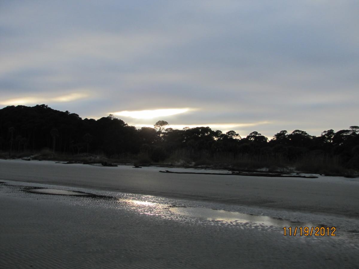 Hunting Island Beach at Sunset