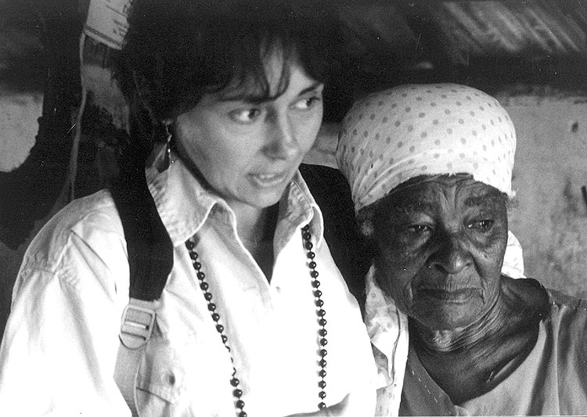 The anthropologist with one of her Brazilian informants, in 1987.