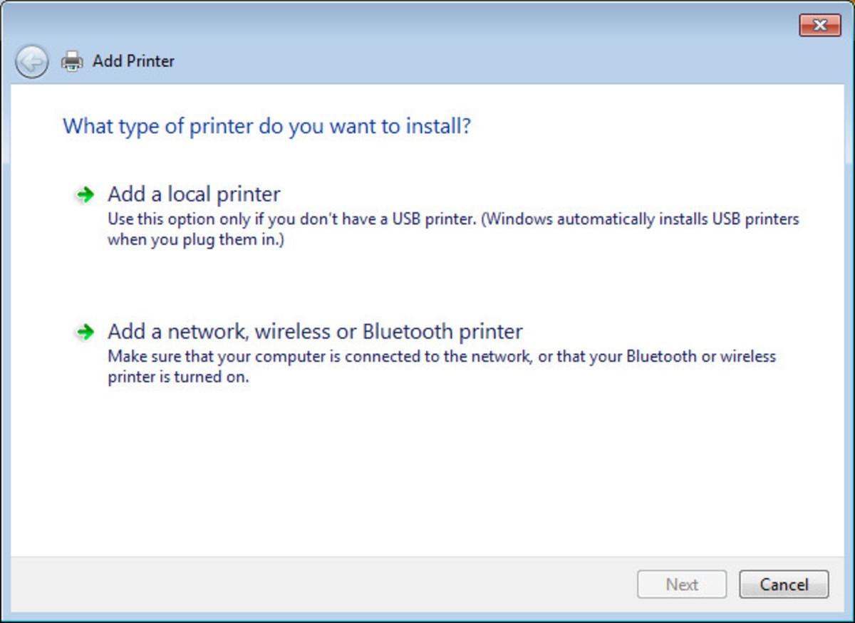 Choose Local Printer