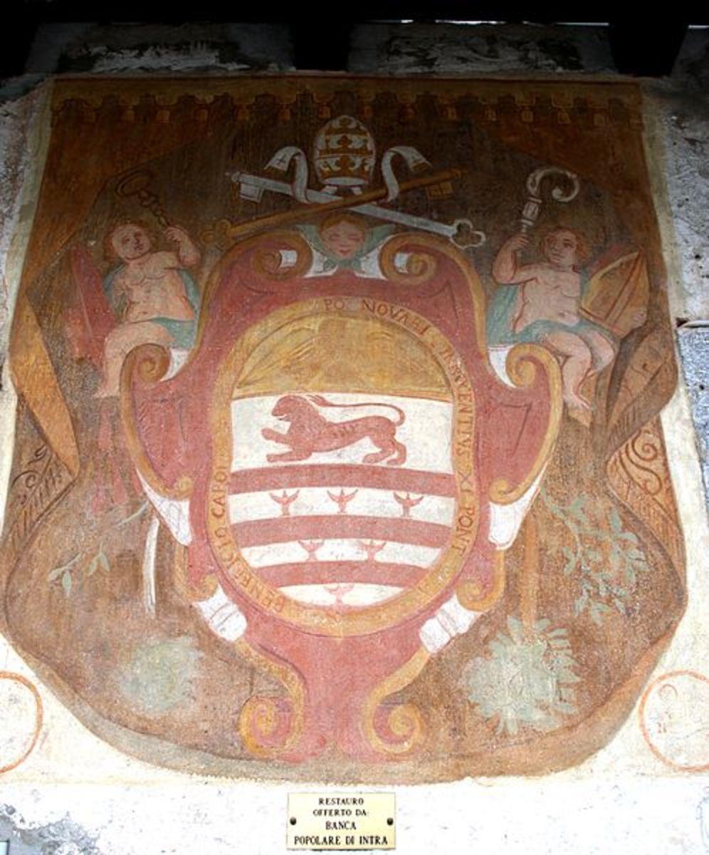 Coat of Arms of former Italian Seminary, Madonna di Campagna, Verbania0Pallanza, Italy