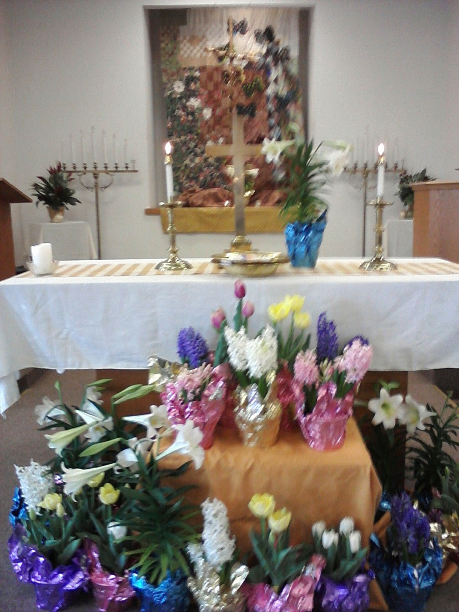 Easter Altar, United Church of Christ, Milford, CT