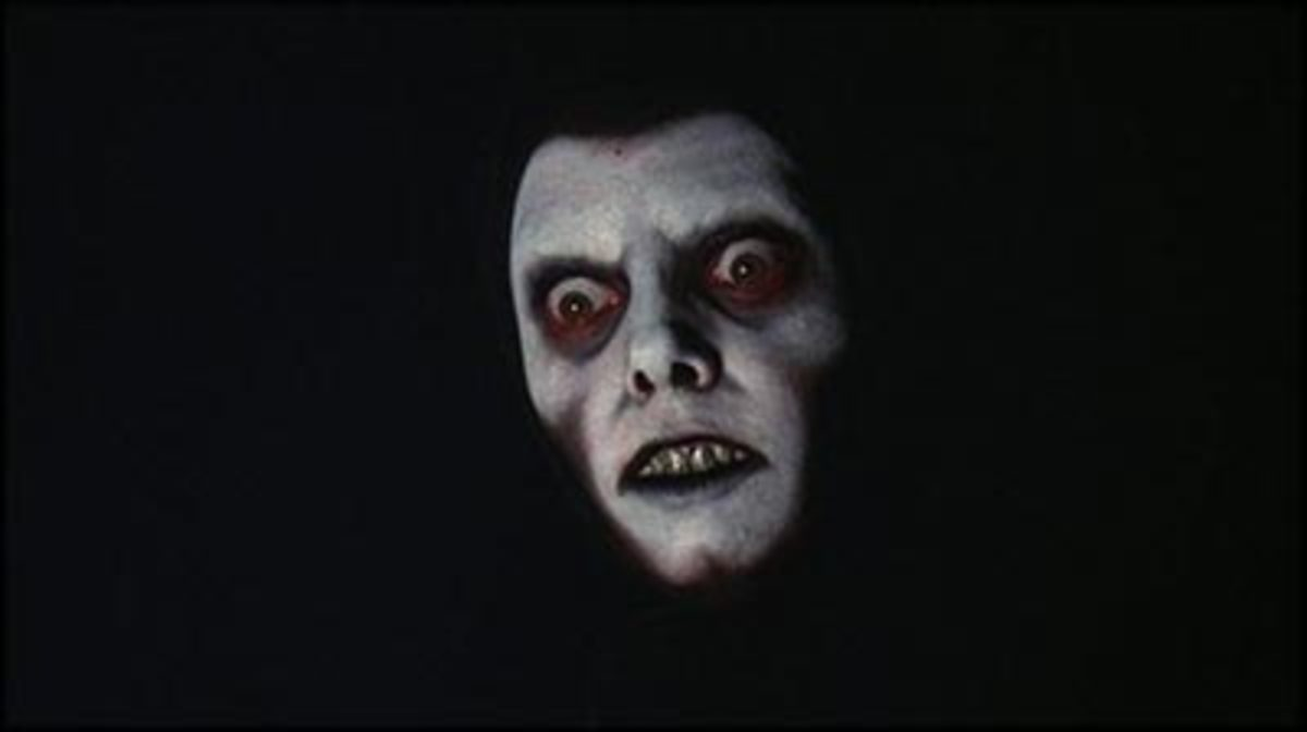One of the semi-subliminal images of the demon from the movie.