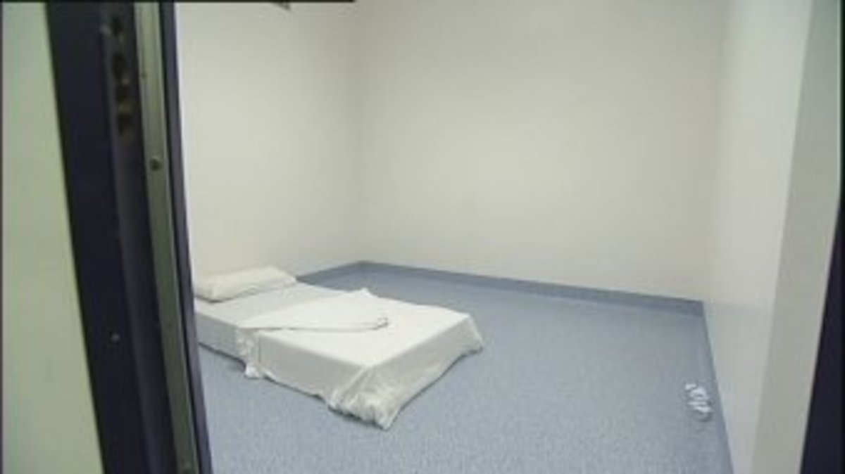 Typical time out room in a psychiatric hospital.