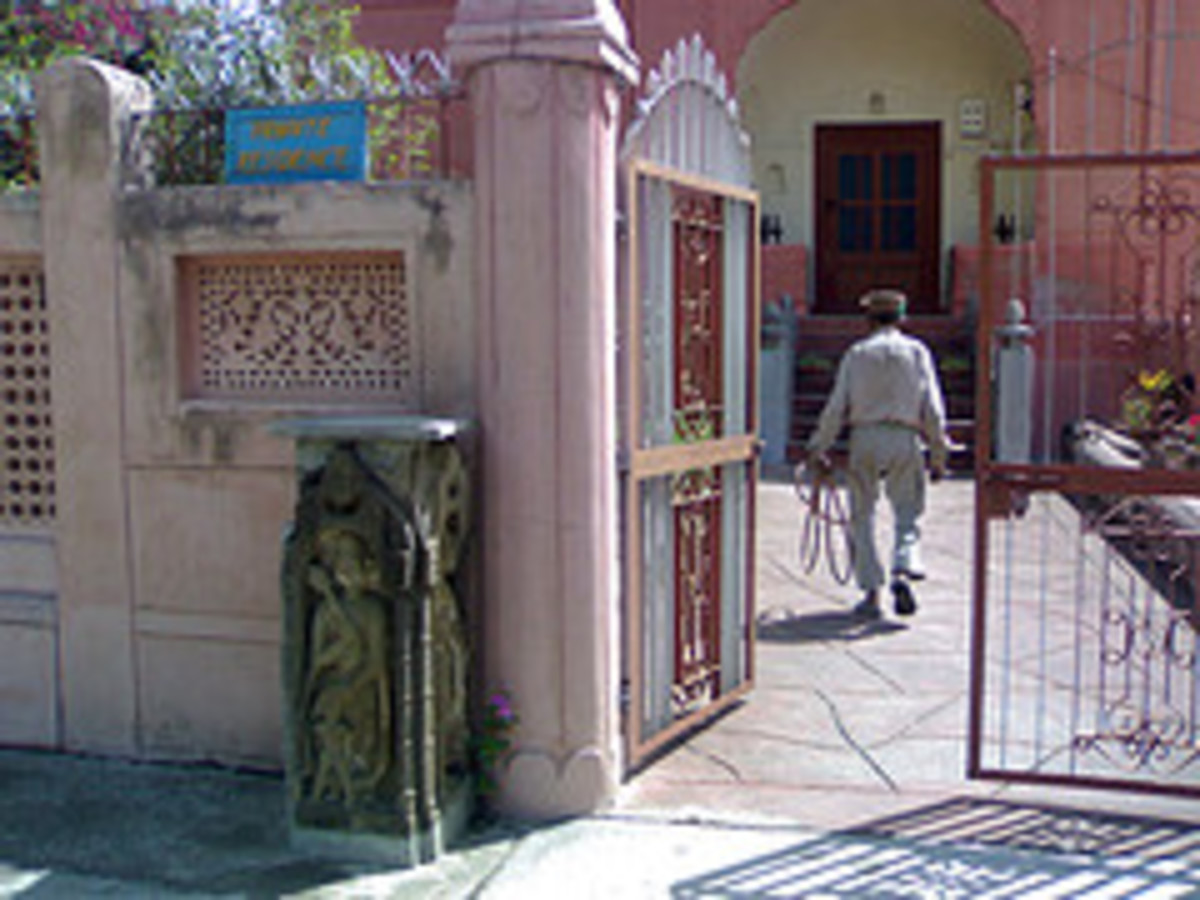 The entrace to the part of the palace which the King of Arki lived in