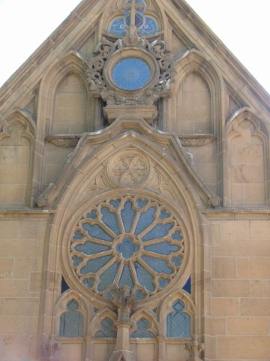 Detailed Close Up Of The Exterior of The Loretto Chapel