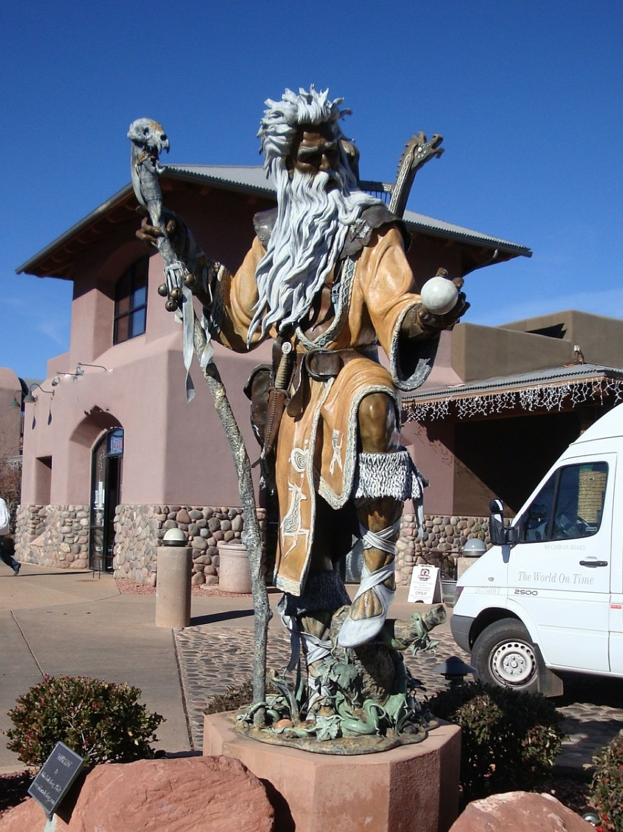 Statue of the Wizard Merlin