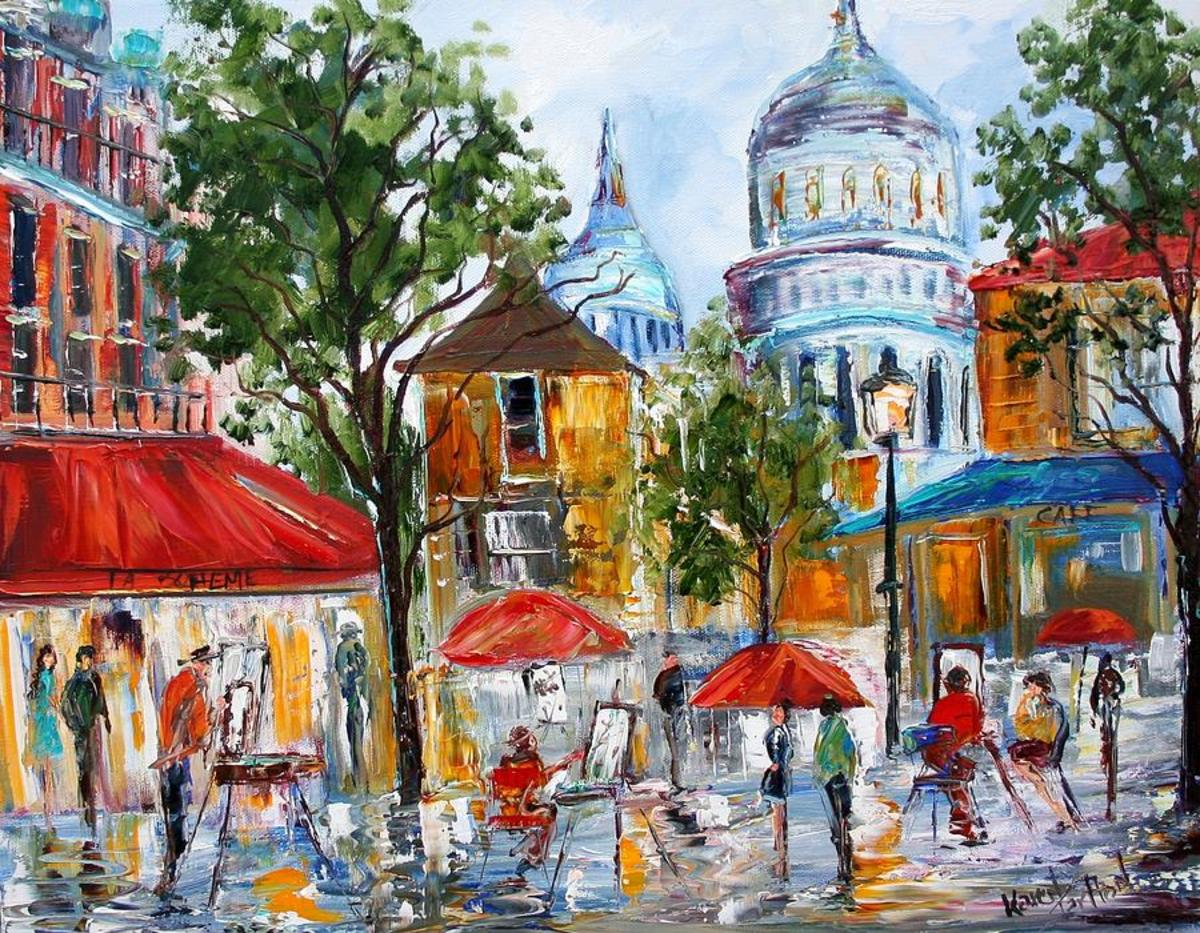 montmartre paris painting karen artists amateur places tarlton sell paintings artist selling fine 7th uploaded august which