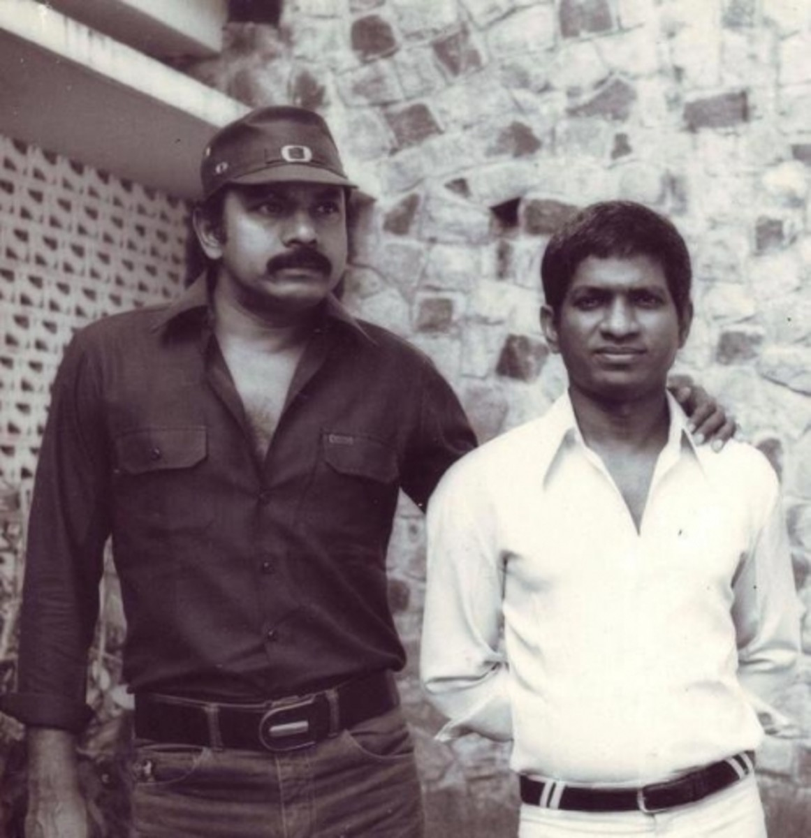 A rare photo of Balu Mahendra and Ilayaraja