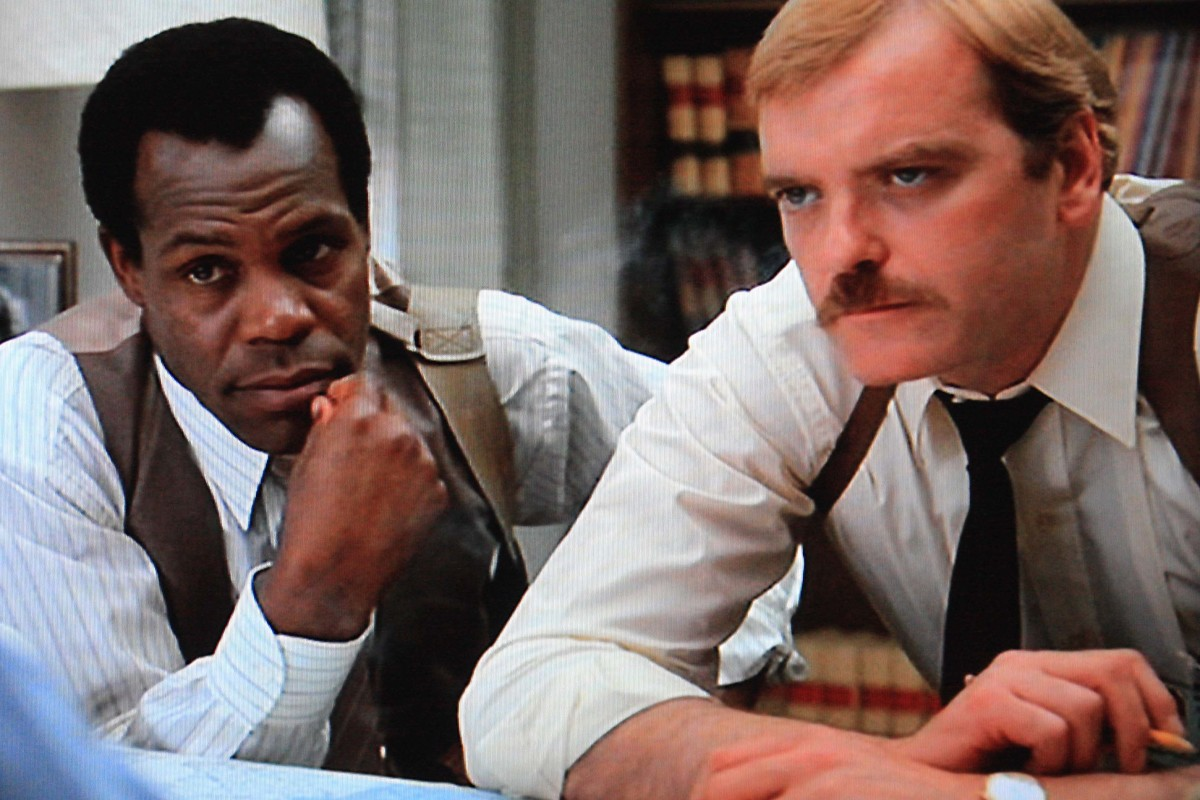 Shaeffer's two fellow villains - Danny Glover is MacFee and Angus MacInnes is 'Fergie'