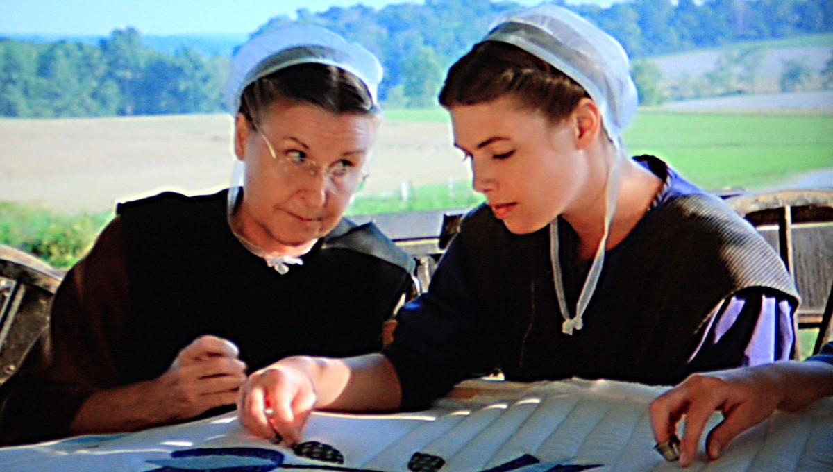 A friendly Amish woman confides in Rachel that her dalliance with an 'outsider' is the gossip of the community during a bout of needlework - not a form of craft which is featured very often in murder crime dramas!