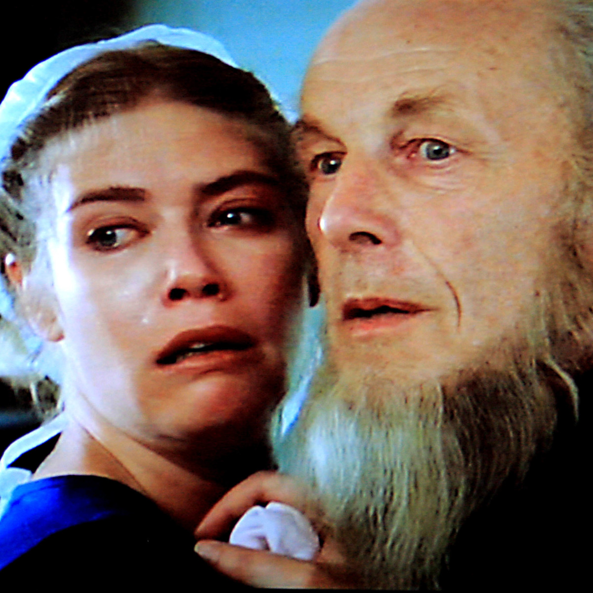 Rachel and Eli Lapp in fear of the gunmen