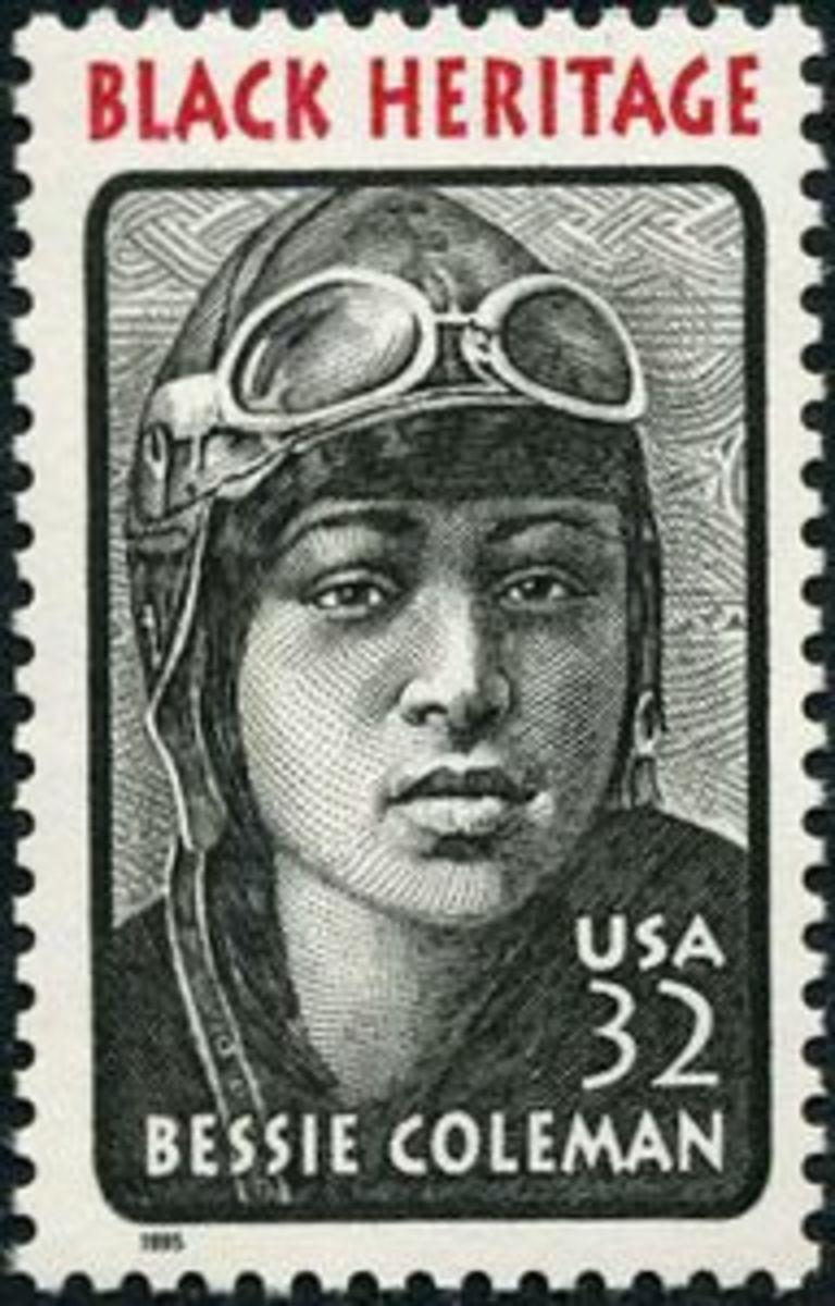 Bessie Coleman Stamp.