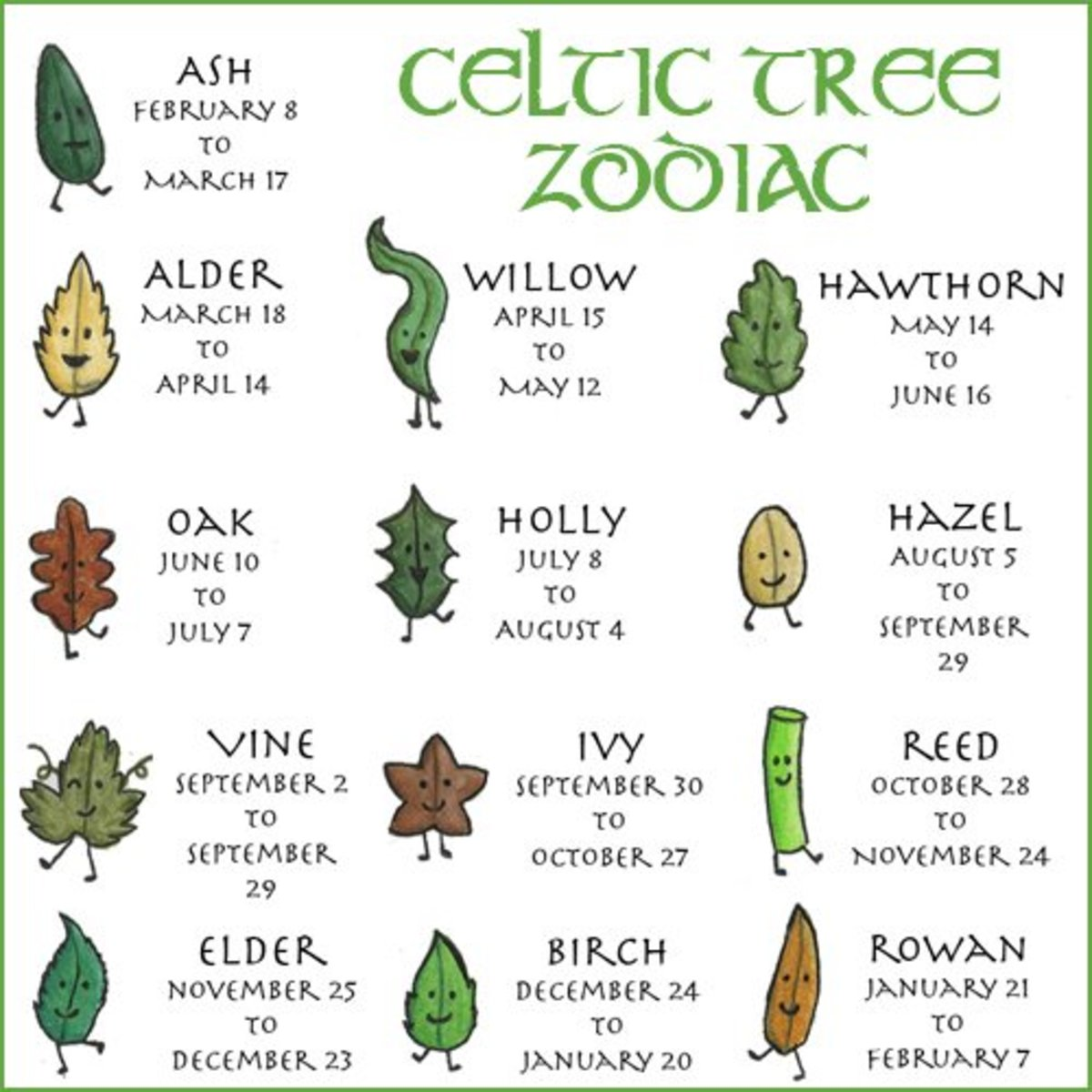 Celtic Tree Zodiac