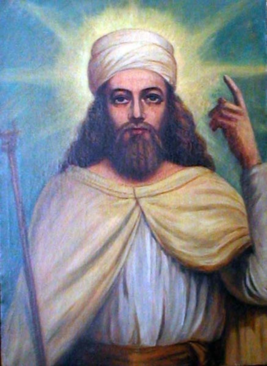 Zoroaster, founder of Zoroastrianism.