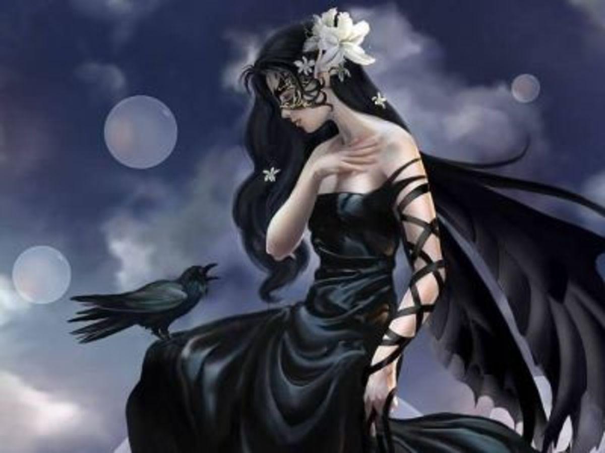 A crow familiar.