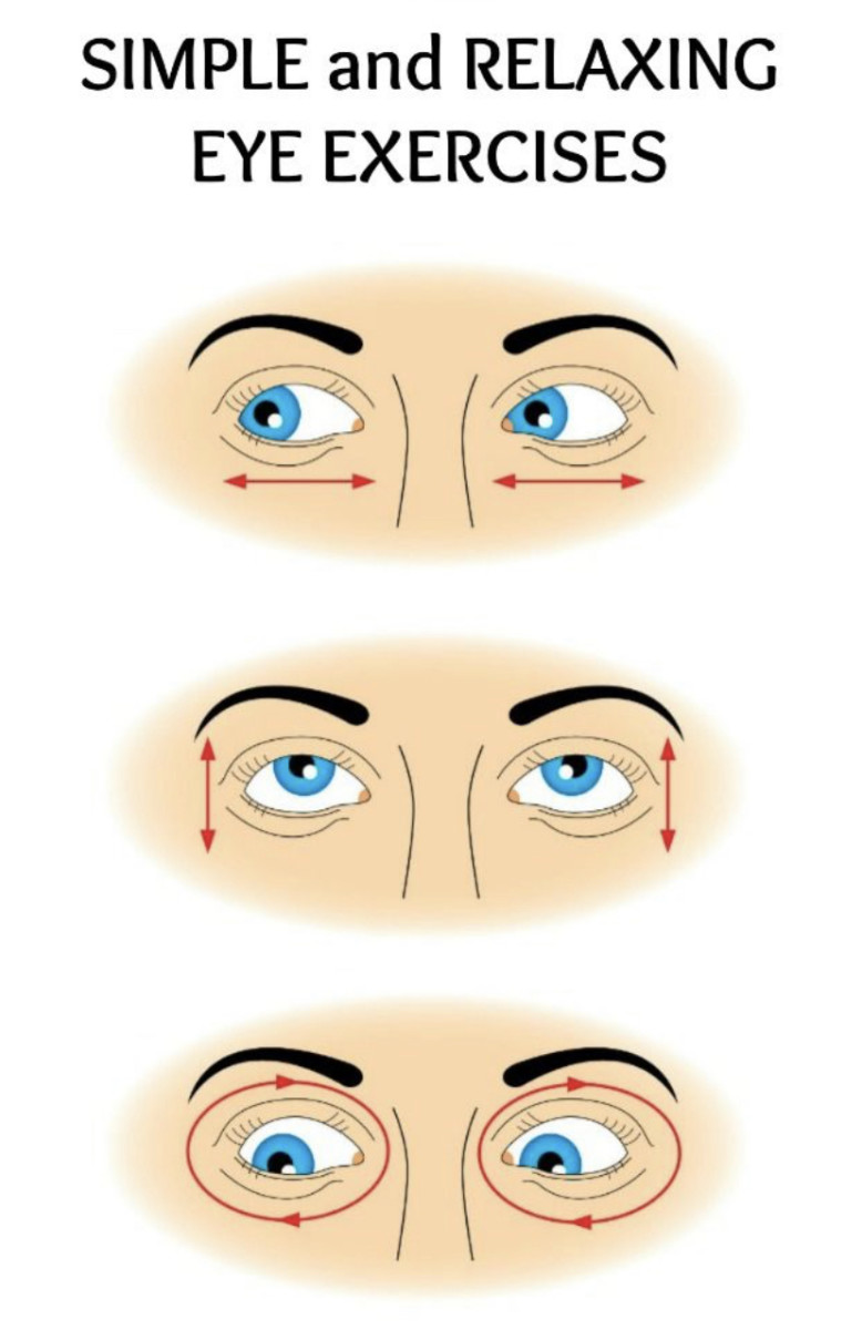 Your eyes also need exercise just like the other parts of the body!