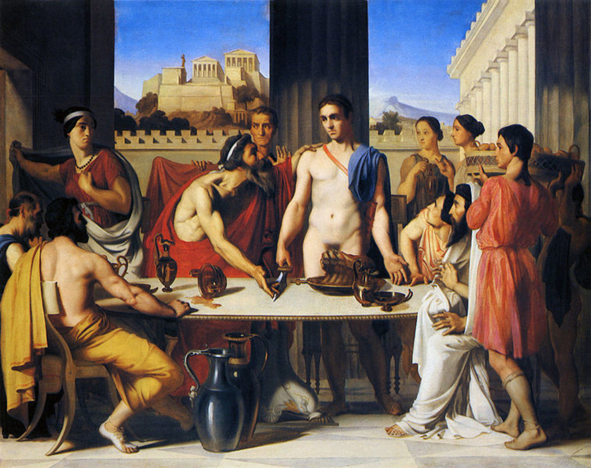Theseus Accepted by His Father - Jean-Hippolyte Flandrin (1809–1864) - PD-art-100