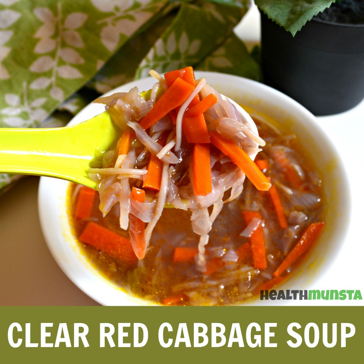 Clear Red Cabbage Soup Recipe | Easy & Healthy