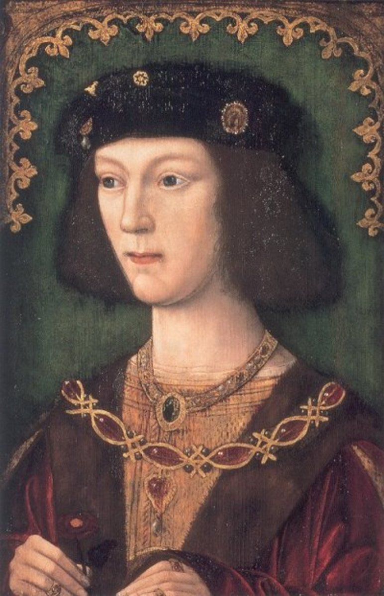 Portrait of eighteen year old Henry VIII at the time he married Catherine of Aragon, 24 years old.